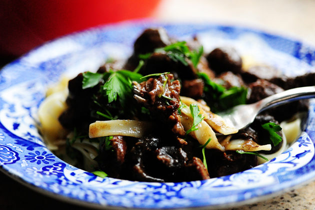 Beef Stew with Cremini Mushrooms
