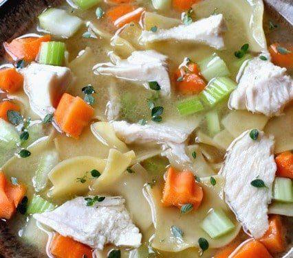 Turkey Soup with Fresh Celery