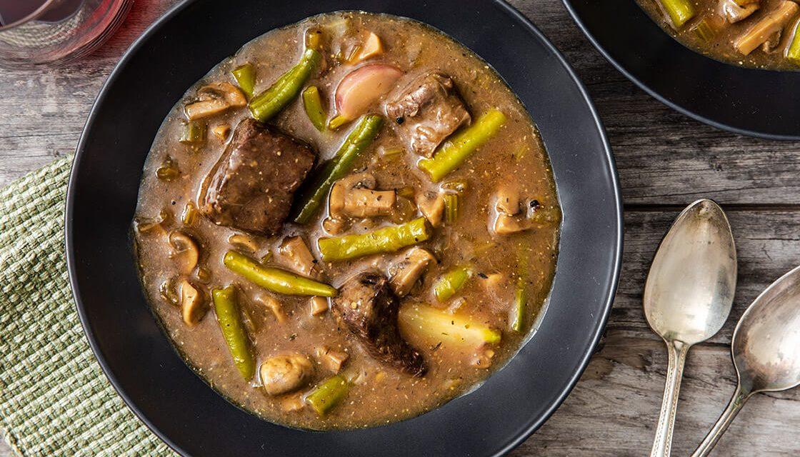 Veal Shoulder Stew with Cauliflower