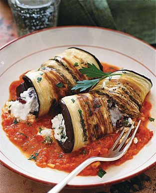 Eggplant Cannelloni with Cheese
