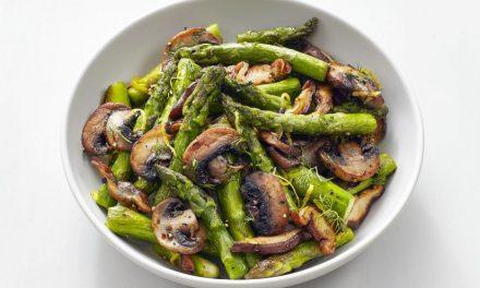 Mushrooms with Asparagus