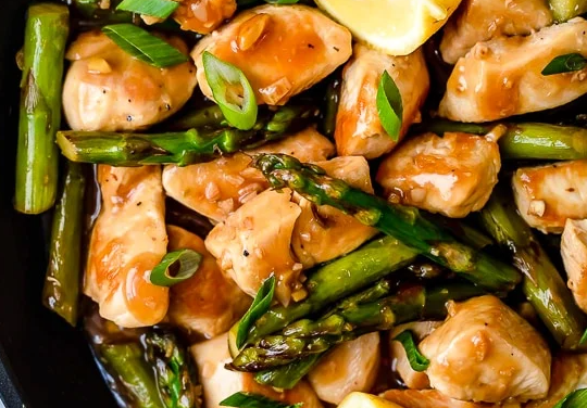 Roast Chicken and Asparagus Stock