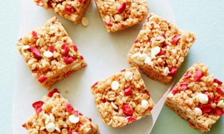 Almond Strawberry Squares