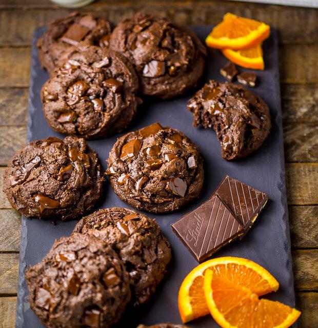 Chocolate Brownies with Orange Glaze