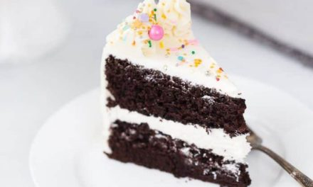 Chocolate Cake with Vanilla Glaze