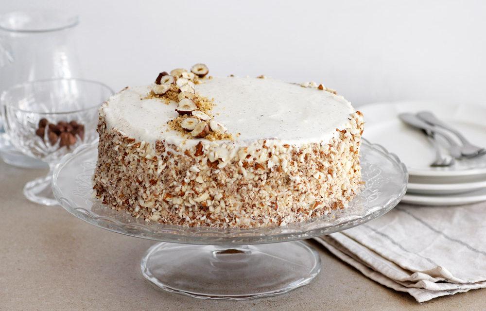 Creamy Coconut Cake with Hazelnuts