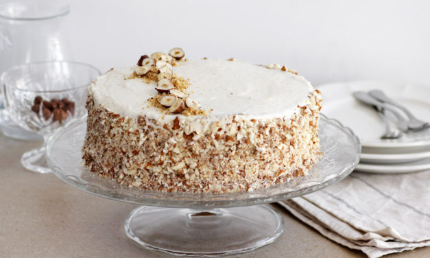Creamy Coconut Cake with Hazelnuts