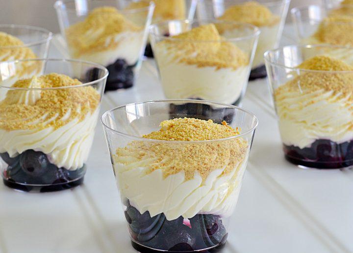 Mug Blueberry Cheesecake