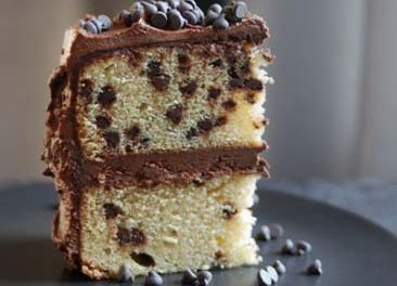 Simple Vanilla and Chocolate Chips Cake