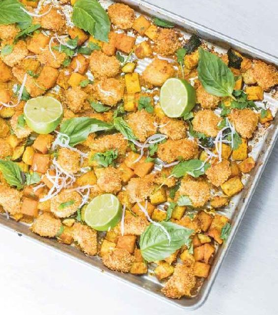 ONE-PAN THAI COCONUT CHICKEN & VEGETABLE BAKE