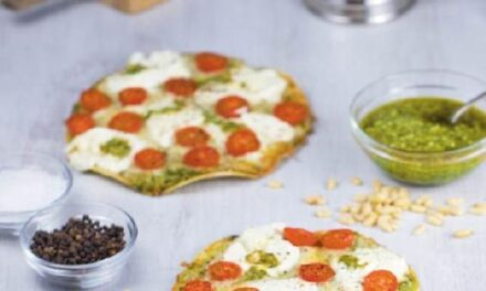 "PESTO & TOMATO ""FLATBREADS"" WITH CHICKEN PARMESAN CRUST"