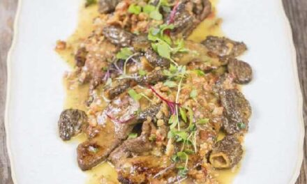 SEARED LIVER WITH BACON & WILD MUSHROOMS