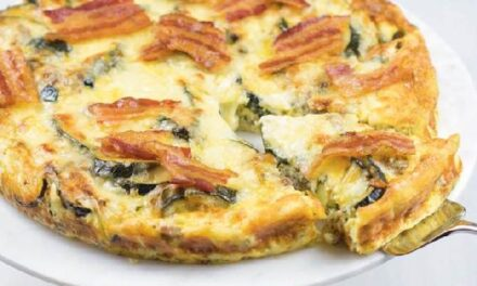 ZUCCHINI, SAUSAGE & MELTED CHEESE CASSEROLE