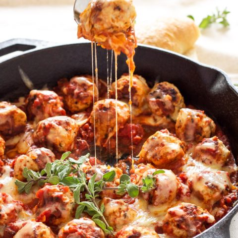 One-Pot Cheese Stuffed Meatballs