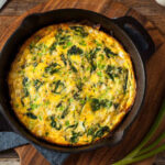 Smoked Salmon and Spinach Frittata