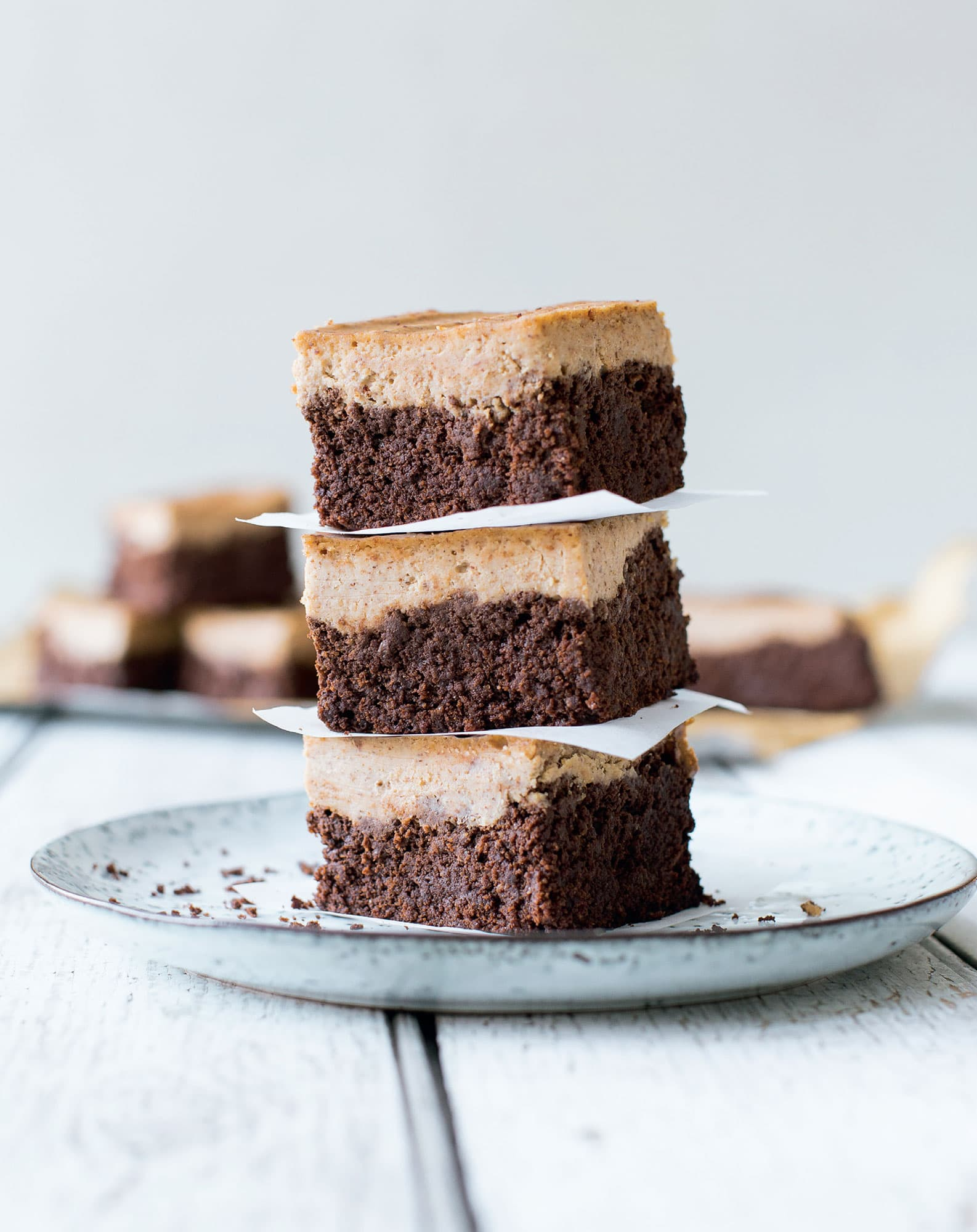 Brownie Almond Cheesecake Bars