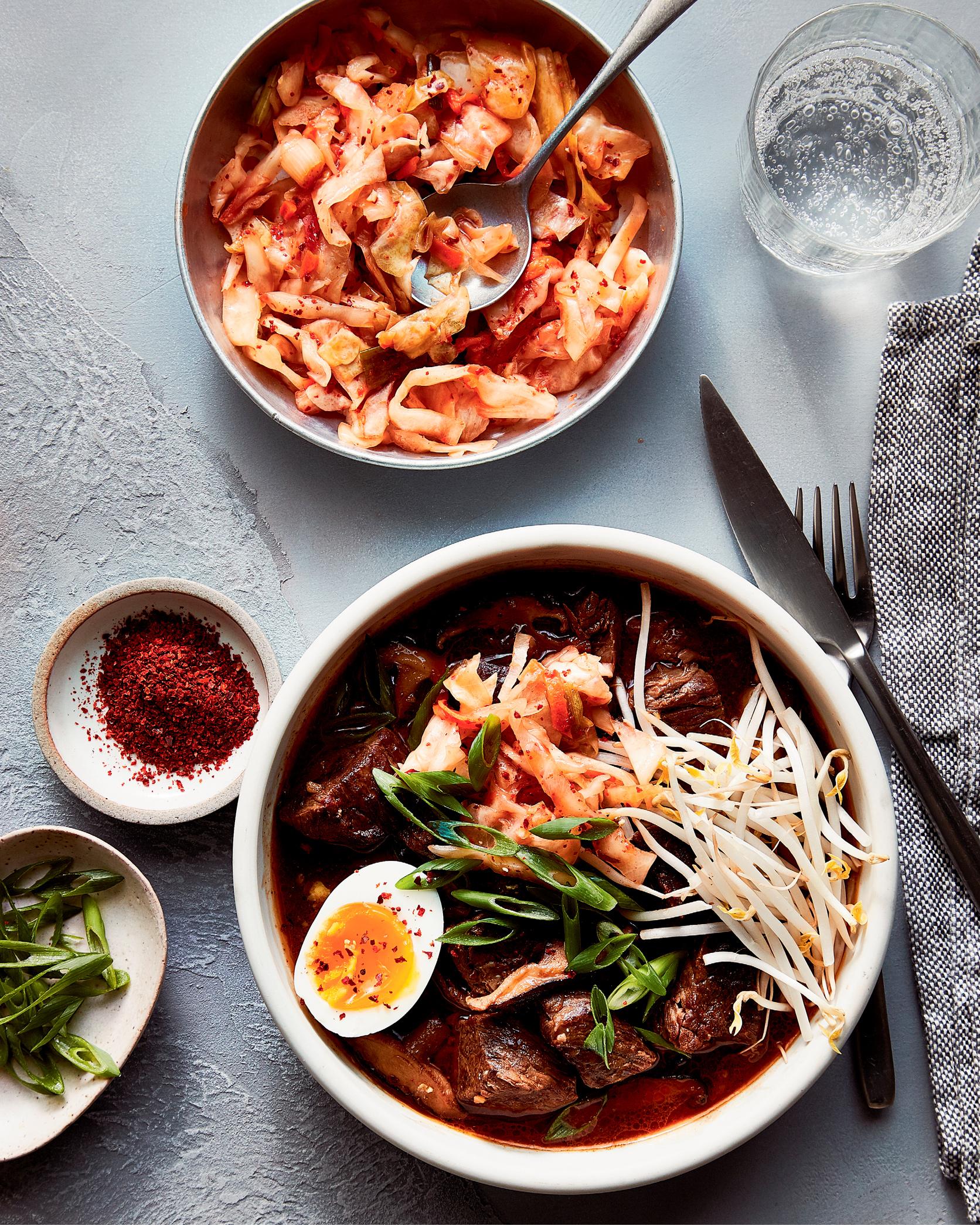 Korean Beef Stew with Kimchi