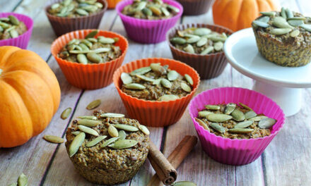 Pumpkin Maple Flaxseed Muffins