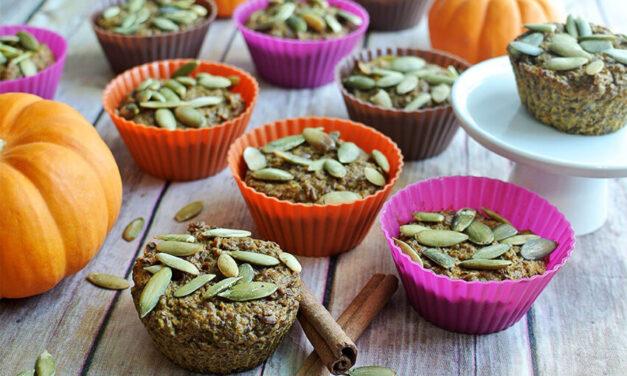 Pumpkin Maple Flaxseed Muffins