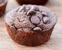 Sugar-Free Chocolate Zucchini Muffins