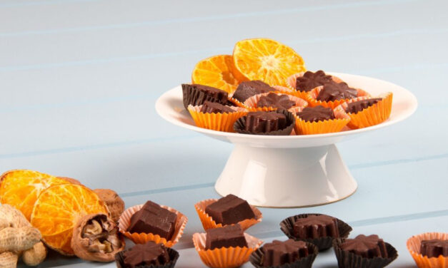 Walnut Orange Chocolate Bombs