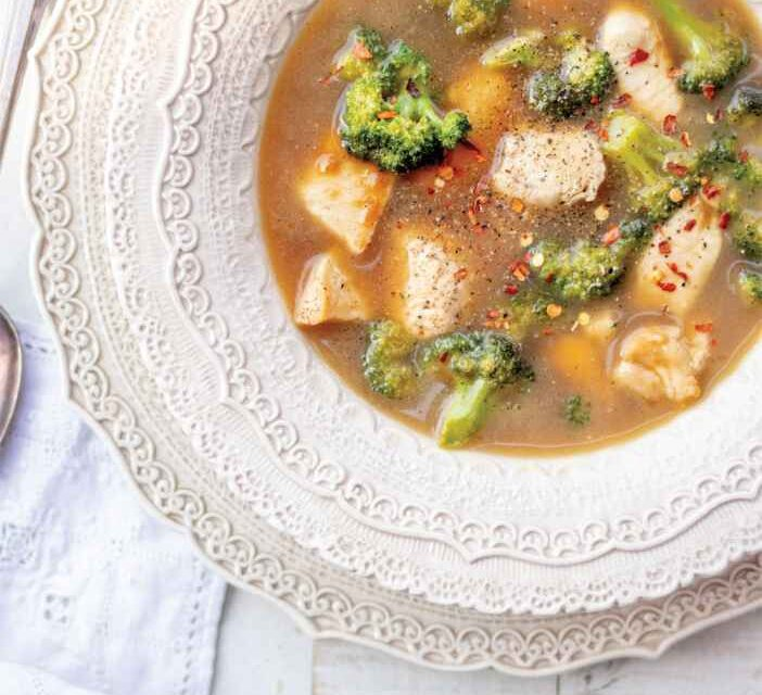 CHINESE CHICKEN AND BROCCOLI SOUP
