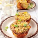 BUFFALO CHICKEN BREAKFAST MUFFINS