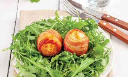 STICKY WRAPPED EGGS