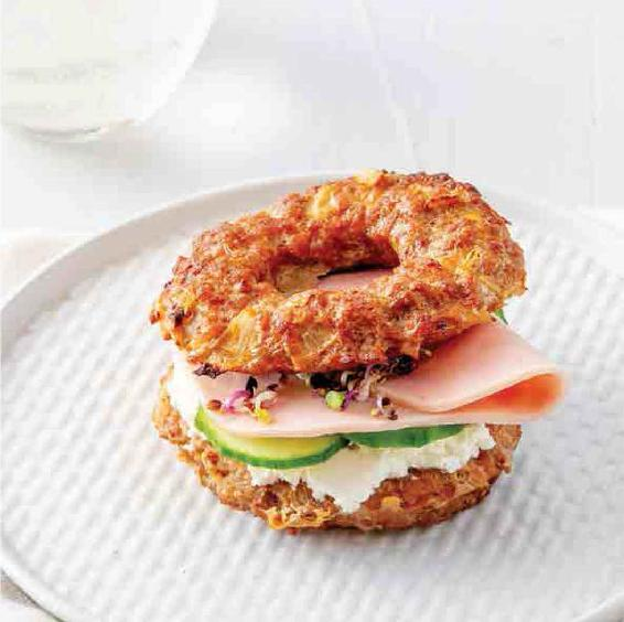 CREAM CHEESE MEAT BAGELS