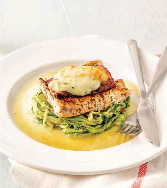 SUPER CHEESY SALMON ZOODLES