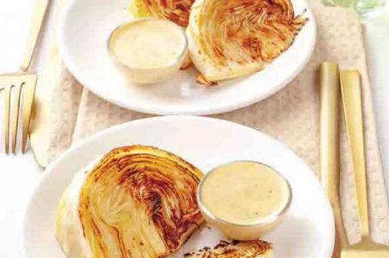FRIED CABBAGE WEDGES